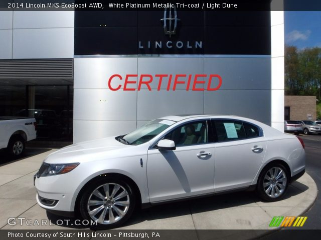 2014 Lincoln MKS EcoBoost AWD in White Platinum Metallic Tri-coat