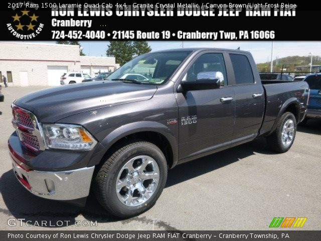 2017 Ram 1500 Laramie Quad Cab 4x4 in Granite Crystal Metallic