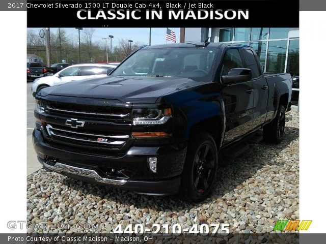 2017 Chevrolet Silverado 1500 LT Double Cab 4x4 in Black