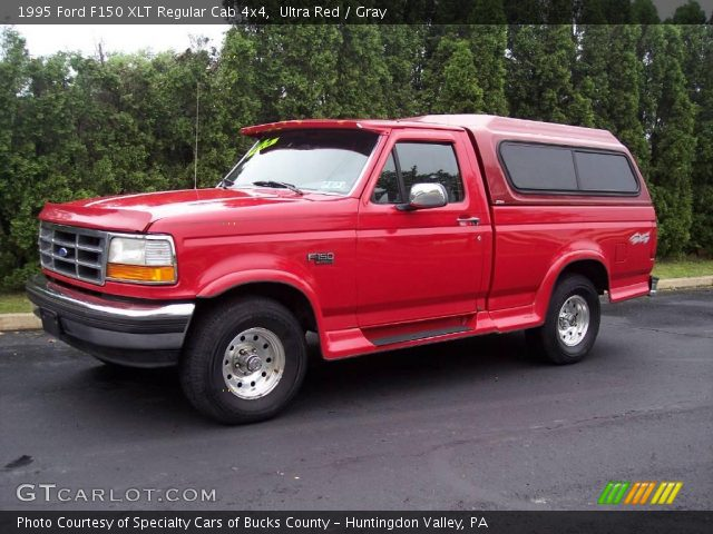 1995 Ford F150 XLT Regular Cab 4x4 in Ultra Red
