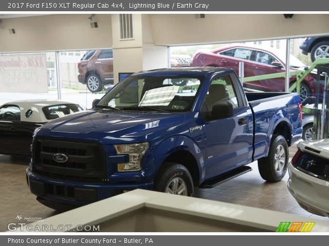 Lightning Blue 2017 Ford F150 Xlt Regular Cab 4x4 Earth Gray