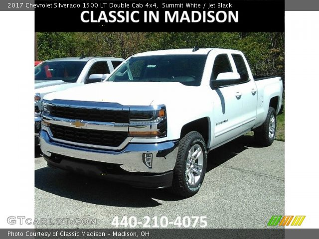 2017 Chevrolet Silverado 1500 LT Double Cab 4x4 in Summit White