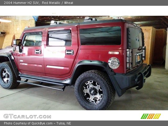 2004 Hummer H2 SUV in Red Metallic