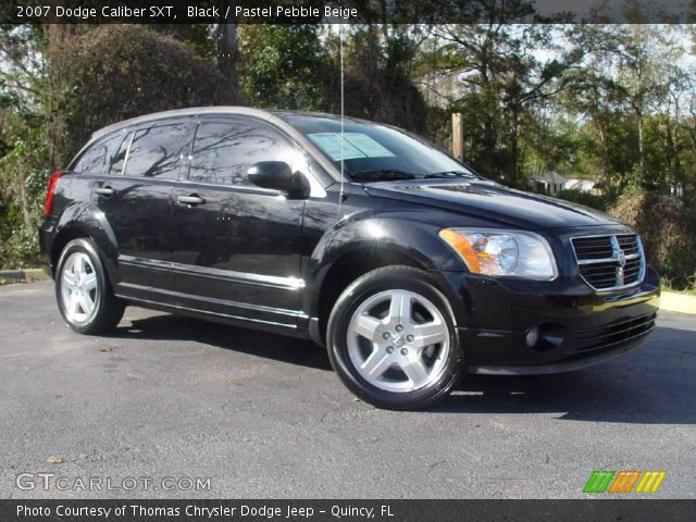 black 2007 dodge caliber sxt pastel pebble beige. Black Bedroom Furniture Sets. Home Design Ideas