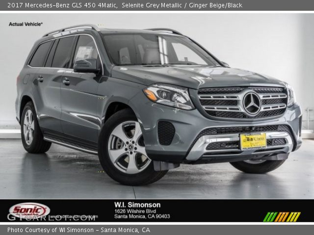 Selenite grey metallic 2017 mercedes benz gls 450 4matic for 2017 mercedes benz gls 450