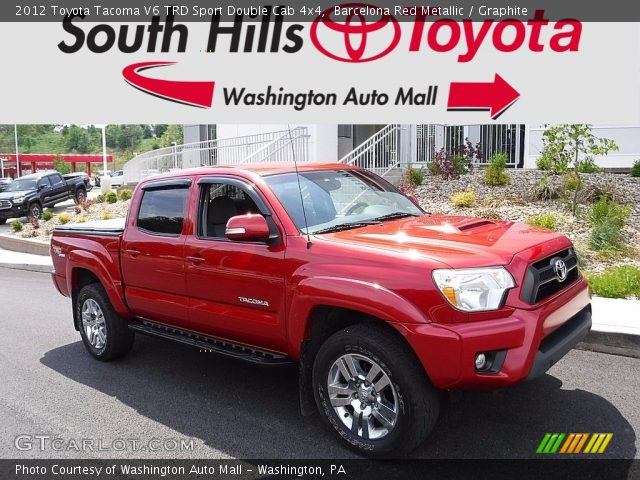 2012 Toyota Tacoma V6 TRD Sport Double Cab 4x4 in Barcelona Red Metallic