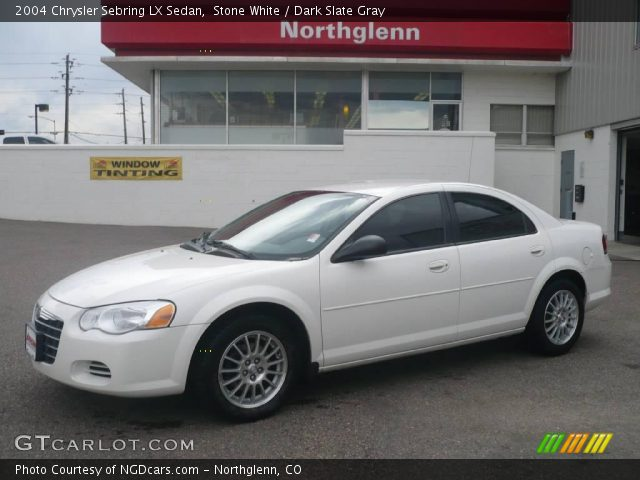 stone white 2004 chrysler sebring lx sedan dark slate. Black Bedroom Furniture Sets. Home Design Ideas