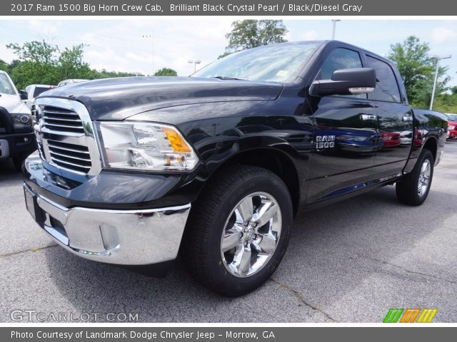 2017 Ram 1500 Big Horn Crew Cab in Brilliant Black Crystal Pearl
