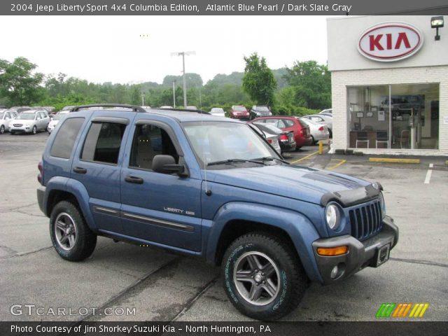 atlantic blue pearl 2004 jeep liberty sport 4x4 columbia edition dark slate gray interior. Black Bedroom Furniture Sets. Home Design Ideas