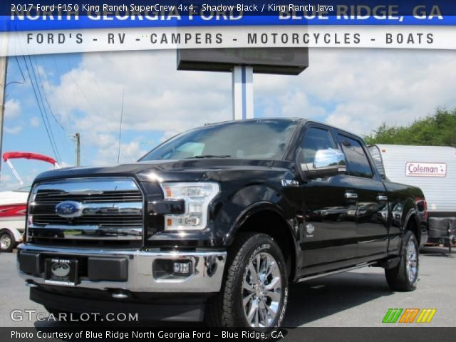 2017 Ford F150 King Ranch SuperCrew 4x4 in Shadow Black