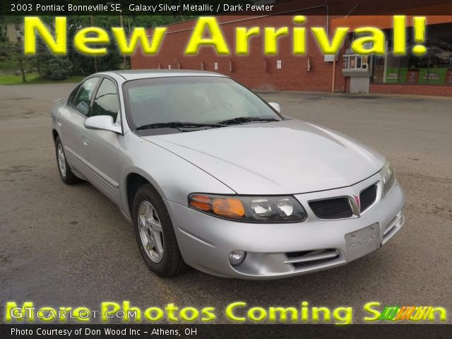 2003 Pontiac Bonneville SE in Galaxy Silver Metallic