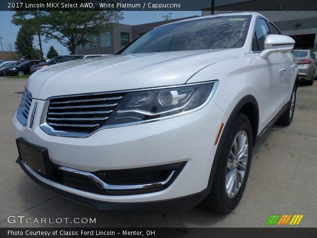 2017 Lincoln MKX Select AWD in White Platinum
