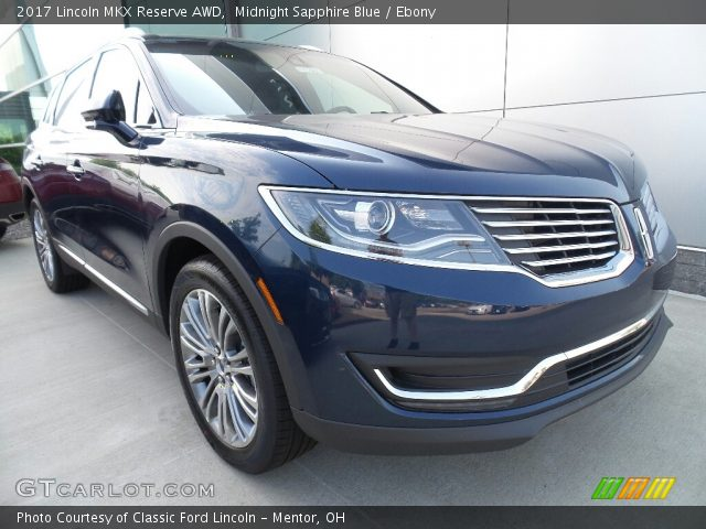 2017 Lincoln MKX Reserve AWD in Midnight Sapphire Blue