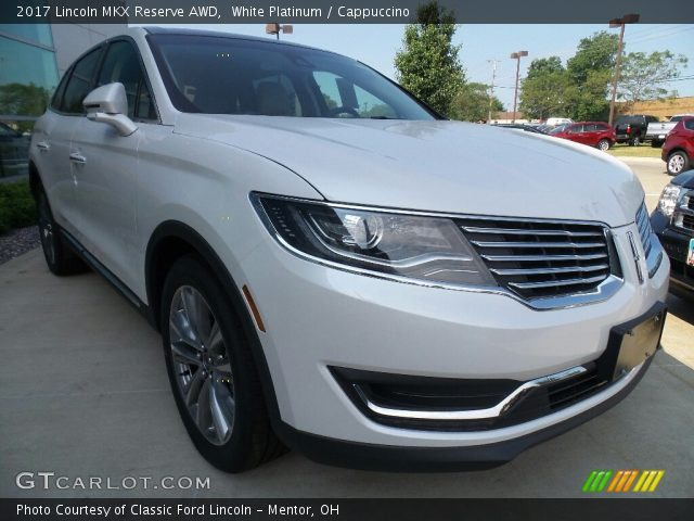 2017 Lincoln MKX Reserve AWD in White Platinum