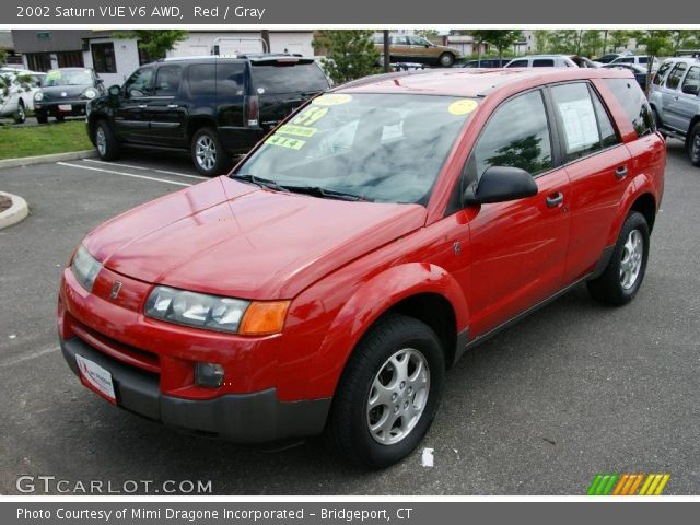 Red 2002 Saturn Vue V6 Awd Gray Interior Gtcarlot