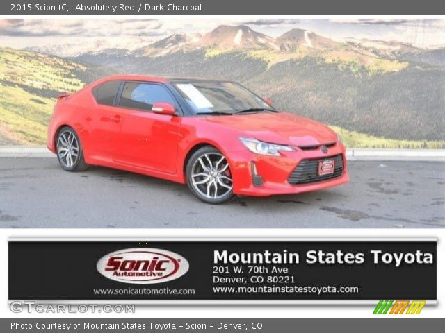 2015 Scion tC  in Absolutely Red