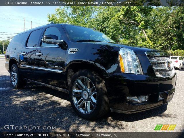2014 Cadillac Escalade ESV Platinum AWD in Black Raven