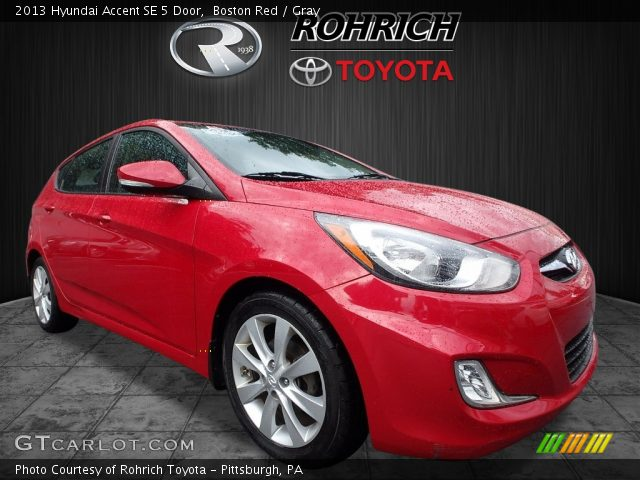 2013 Hyundai Accent SE 5 Door in Boston Red