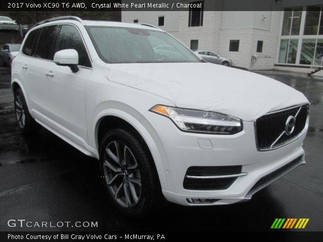2017 Volvo XC90 T6 AWD in Crystal White Pearl Metallic