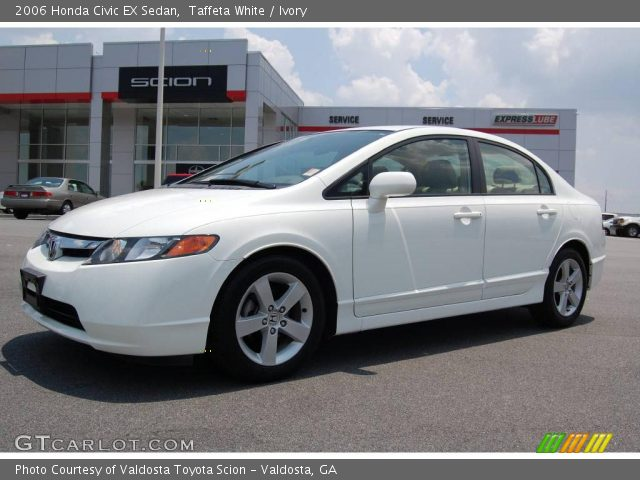 taffeta white 2006 honda civic ex sedan ivory interior vehicle archive. Black Bedroom Furniture Sets. Home Design Ideas
