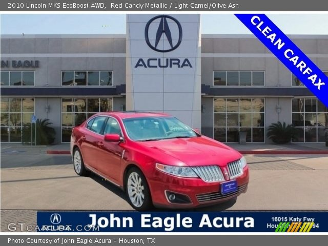 2010 Lincoln MKS EcoBoost AWD in Red Candy Metallic