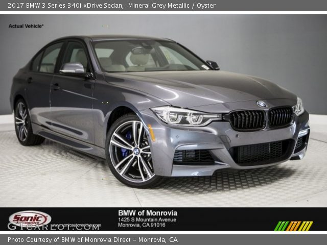 2017 BMW 3 Series 340i xDrive Sedan in Mineral Grey Metallic