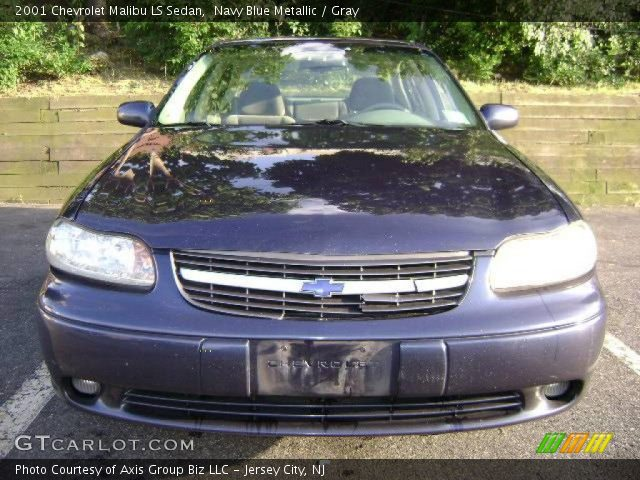 navy blue metallic 2001 chevrolet malibu ls sedan gray. Black Bedroom Furniture Sets. Home Design Ideas