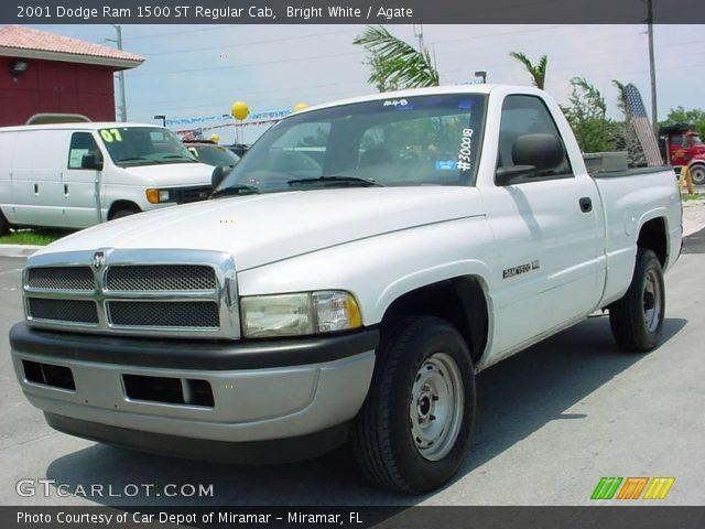 Bright White 2001 Dodge Ram 1500 St Regular Cab Agate