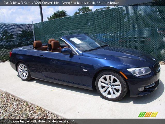 2013 BMW 3 Series 328i Convertible in Deep Sea Blue Metallic