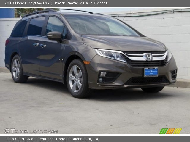 Pacific Pewter Metallic 2018 Honda Odyssey Ex L Mocha Interior Vehicle