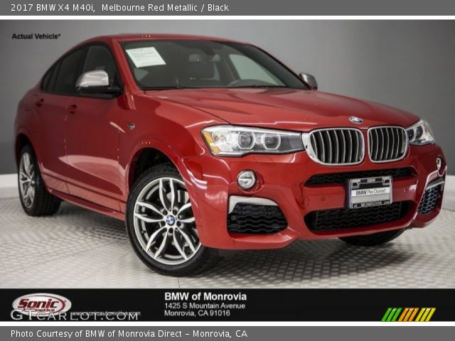 2017 BMW X4 M40i In Melbourne Red Metallic