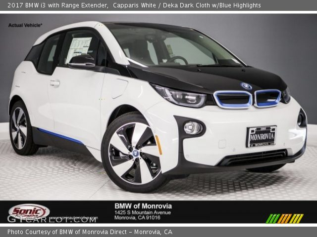 2017 BMW I3 With Range Extender In Capparis White