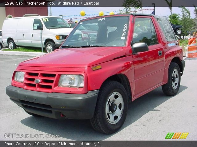 1996 Geo Tracker Soft Top in Wildfire Red