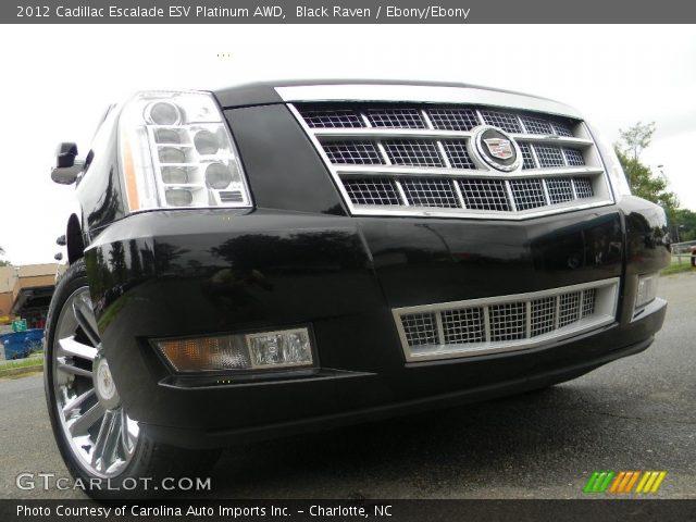 2012 Cadillac Escalade ESV Platinum AWD in Black Raven