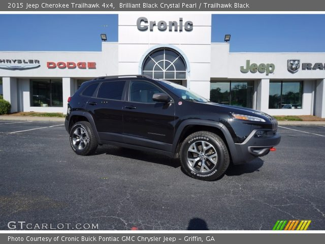 2015 Jeep Cherokee Trailhawk 4x4 in Brilliant Black Crystal Pearl