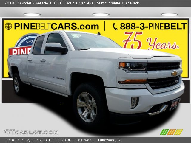 2018 Chevrolet Silverado 1500 LT Double Cab 4x4 in Summit White