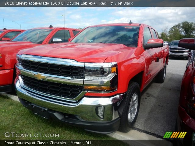 2018 Chevrolet Silverado 1500 LT Double Cab 4x4 in Red Hot