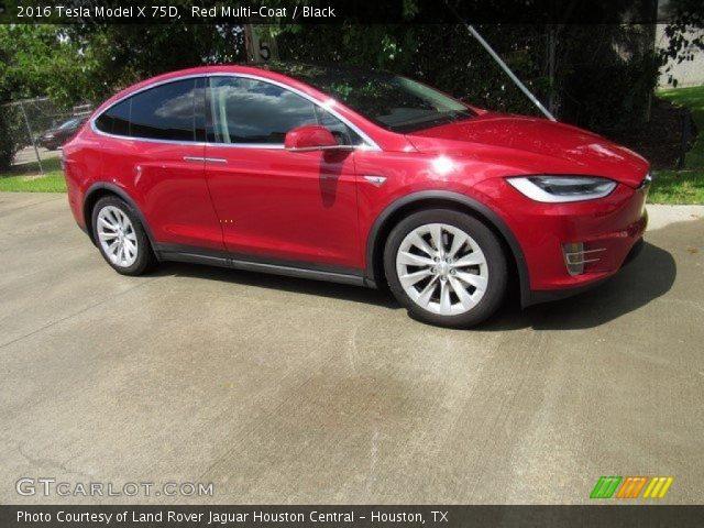 2016 Tesla Model X 75D in Red Multi-Coat