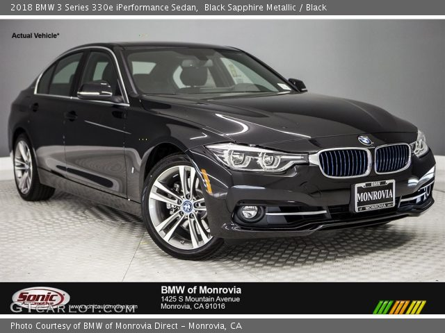 2018 BMW 3 Series 330e iPerformance Sedan in Black Sapphire Metallic