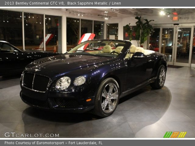 2013 Bentley Continental GTC V8  in Black Sapphire Metallic