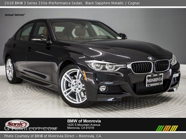 2018 BMW 3 Series 330e iPerformance Sedan in Black Sapphire Metallic