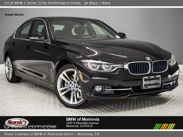 2018 BMW 3 Series 330e iPerformance Sedan in Jet Black