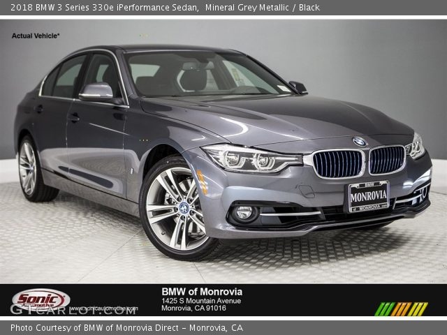 2018 BMW 3 Series 330e iPerformance Sedan in Mineral Grey Metallic