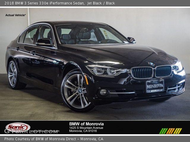 2018 BMW 3 Series 330e iPerformance Sedan in Jet Black