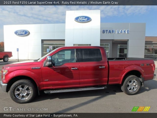 2015 Ford F150 Lariat SuperCrew 4x4 in Ruby Red Metallic