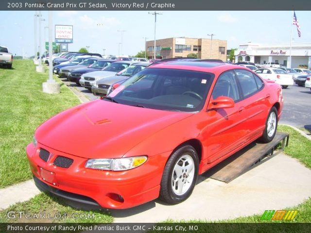 victory red 2003 pontiac grand prix gt sedan graphite. Black Bedroom Furniture Sets. Home Design Ideas