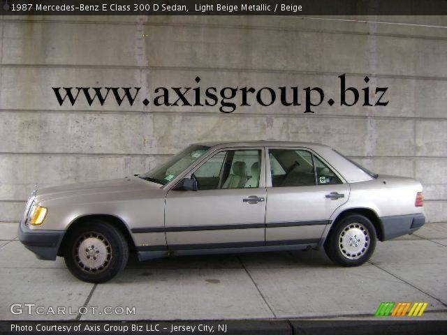 1987 Mercedes-Benz E Class 300 D Sedan in Light Beige Metallic