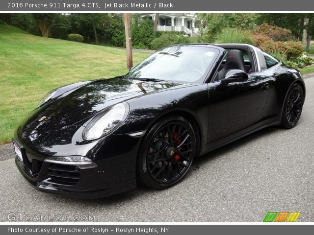 Jet Black Metallic 2016 Porsche 911 Targa 4 Gts Black Interior