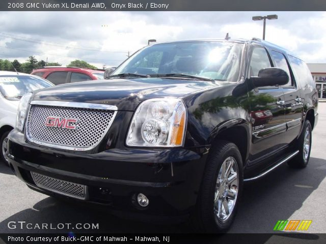 onyx black 2008 gmc yukon xl denali awd ebony interior vehicle archive. Black Bedroom Furniture Sets. Home Design Ideas