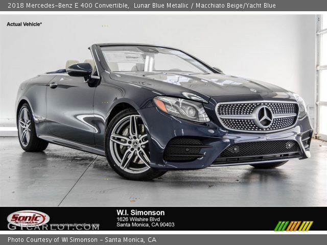 2018 Mercedes-Benz E 400 Convertible in Lunar Blue Metallic